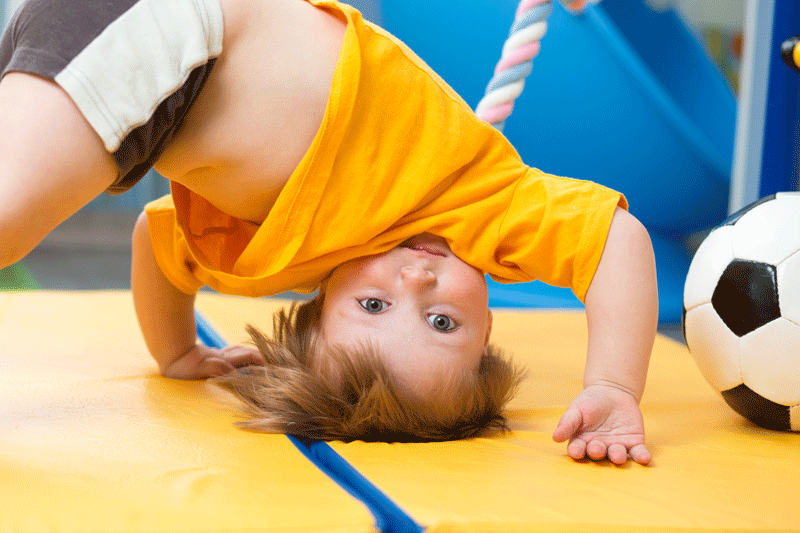 Tumbling Gym and Child Care during Fitness Classes