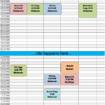 Fall 2020 Adult Fitness Schedule